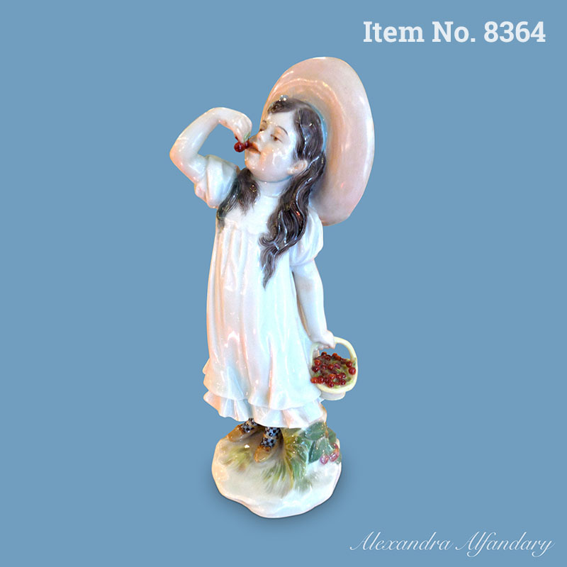 Item No. 8364: A Collectable Art Nouveau Meissen Figure of a Cherry Eating Girl by Paul Helmig, ca. 1907