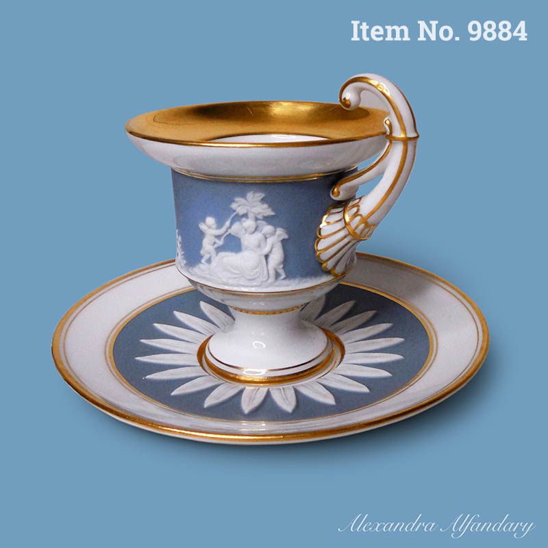 Item No. 9884: A Neoclassical Meissen Chocolate Cup and Saucer, ca. 1900