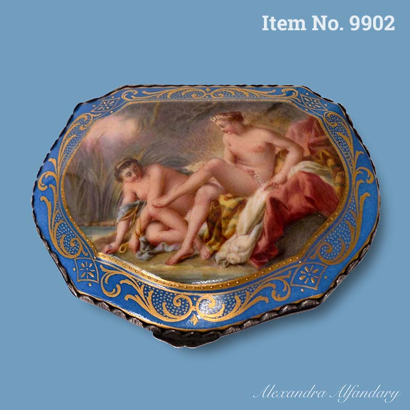 Item No. 9902: A Highly Decorative and Collectible Meissen Porcelain Box, ca. 1880-1900