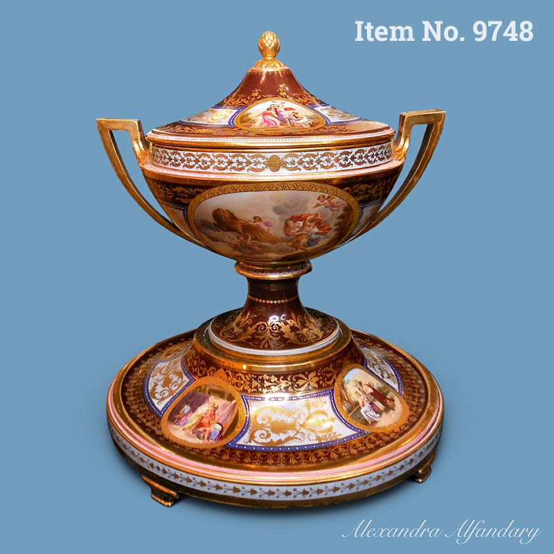Item No. 9748: An Important and Impressive Austrian Tureen, Cover and Stand in the Vienna Style, ca. 1900